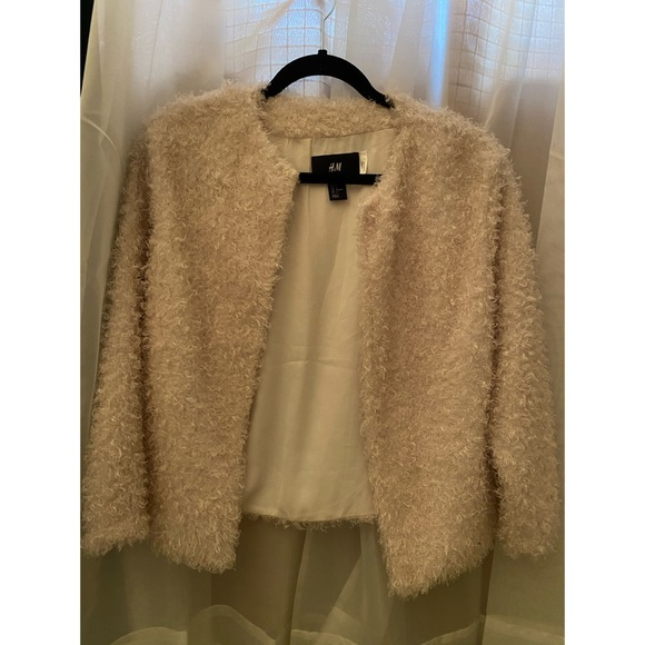 Teddy style H&M lined cardigan/light jacket